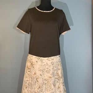 Burberry Silk Skirt & Cotton Shirt